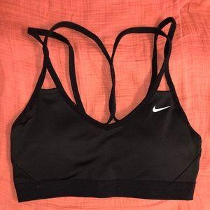 Nike black strappy sports bra